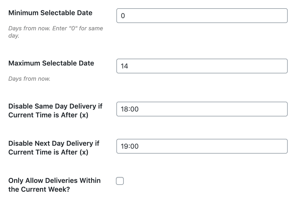 Flexible delivery options for WooCommerce