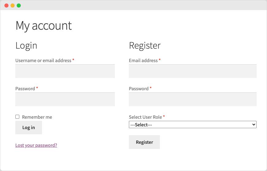 User Roles Dropdown on WooCommerce Registration Form