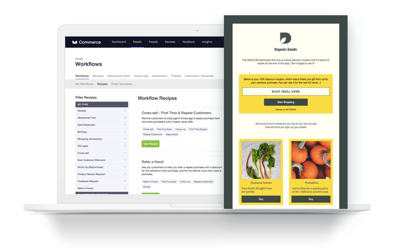 CM Commerce Workflow screen