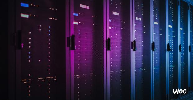 row of servers storing website files