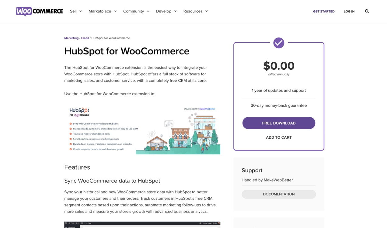 HubSpot for WooCommerce extension
