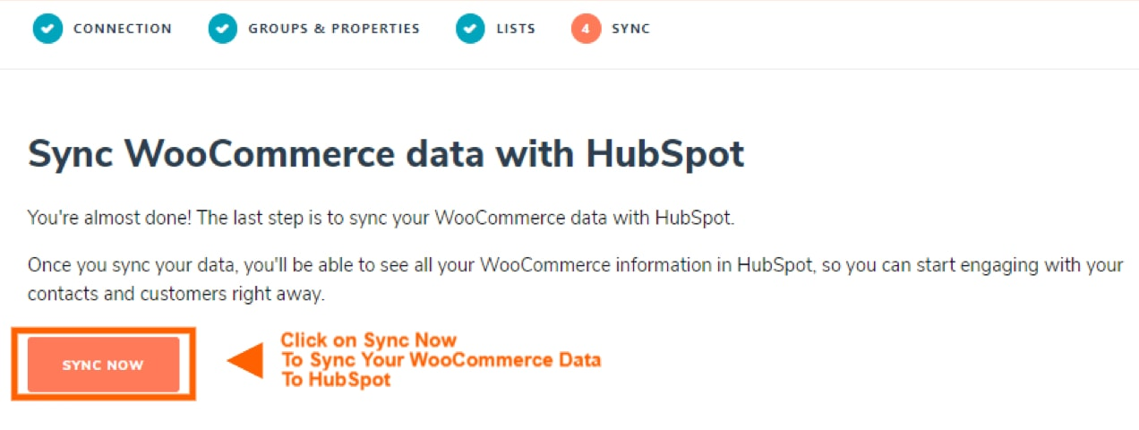 syncing WooCommerce with HubSpot