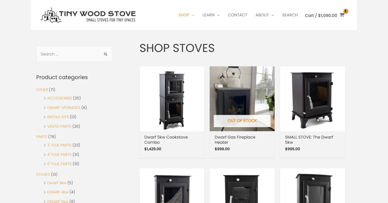 Tiny Wood Stove website