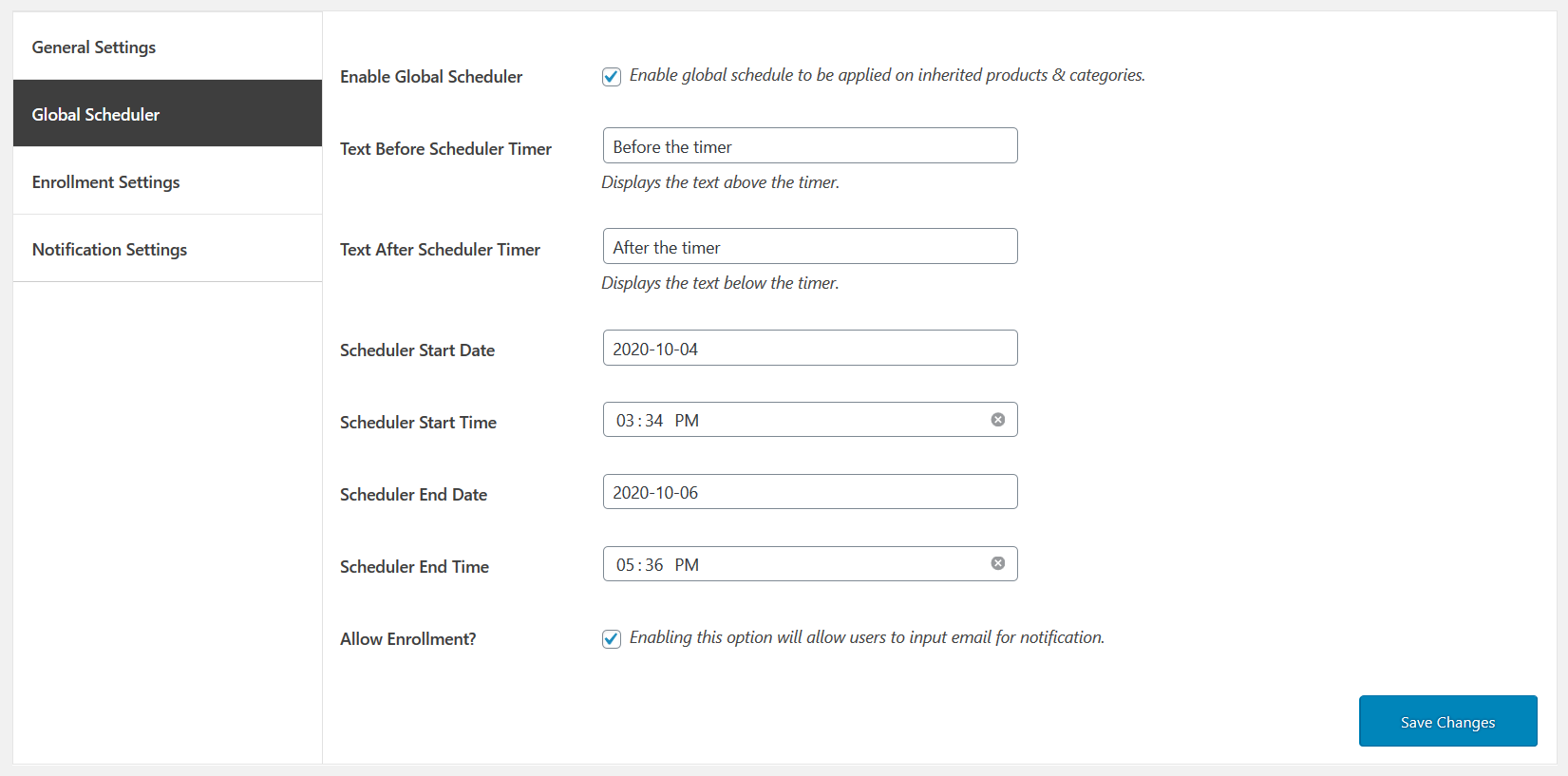 01 availability scheduler for woocommerce global settins