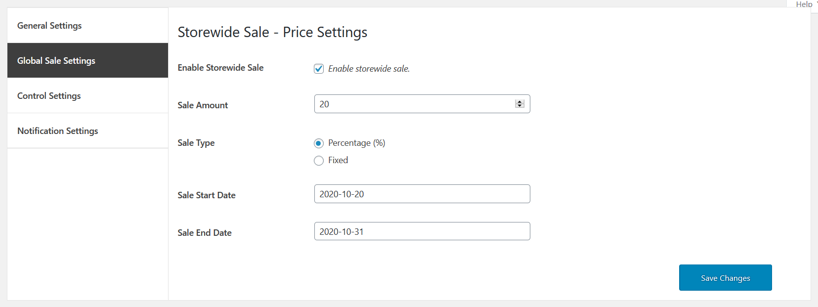 01 store wide sale for woocommerce global sale settinngs