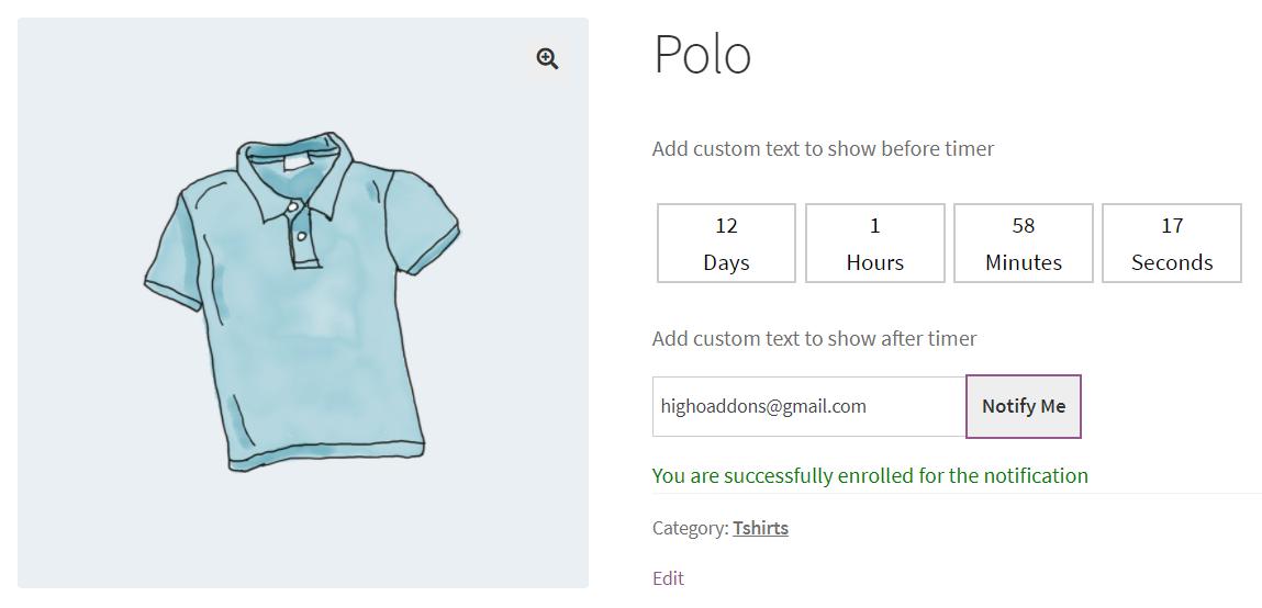 상품 판매 오픈 날짜를 표시하는 Availability Scheduler for WooCommerce 플러그인