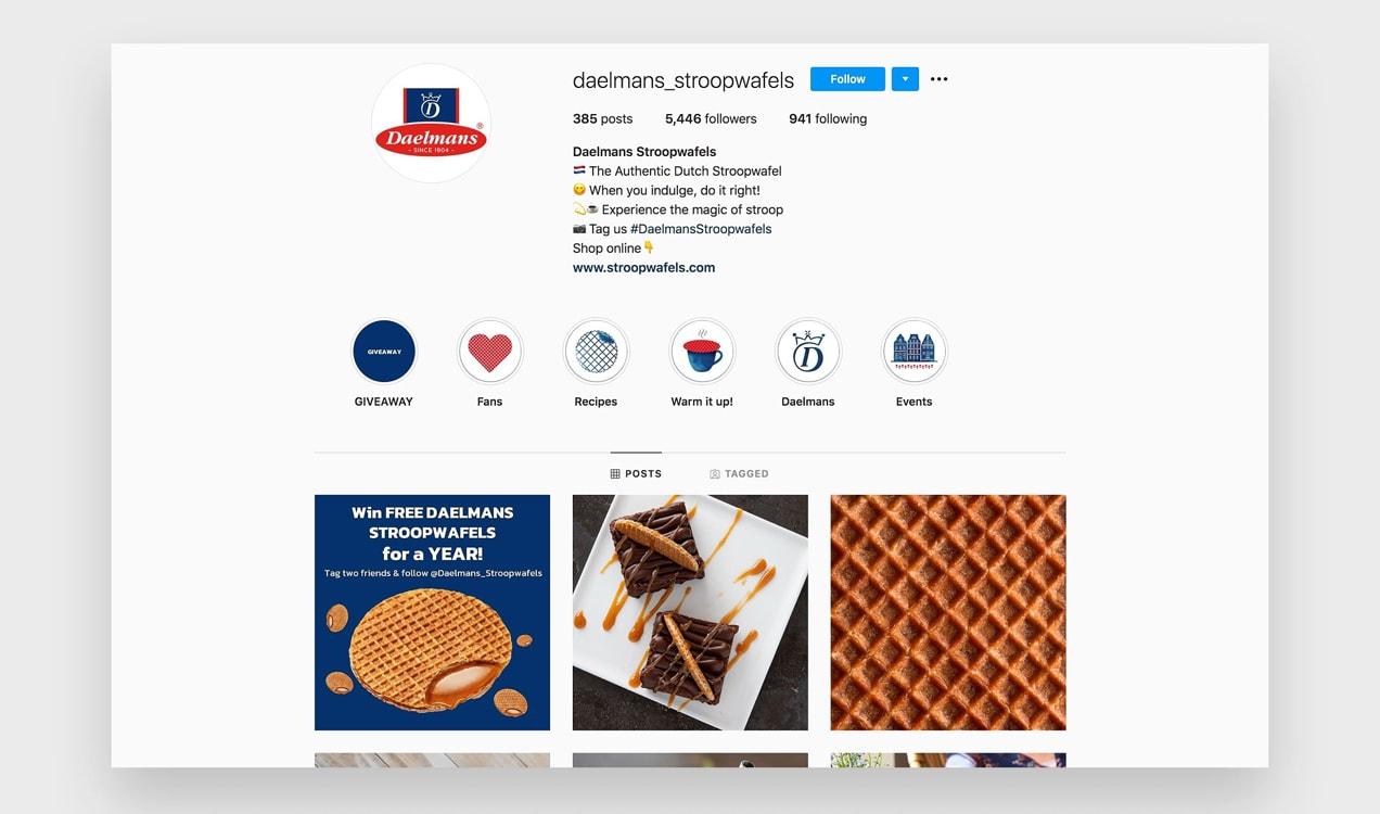 photo of Daelman's Stroopwafels instagram