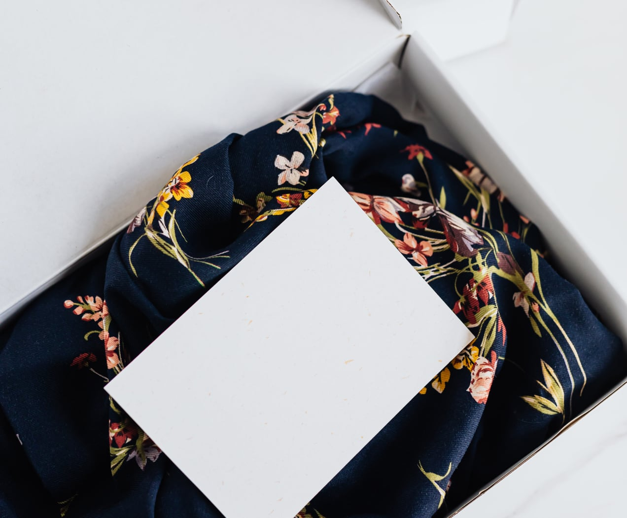 fashion product packed into a box for shipping