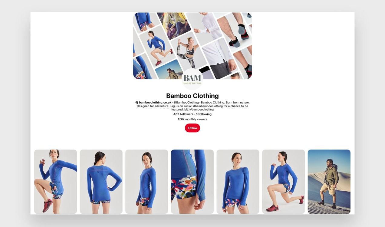 Bamboo Clothing Pinterest account