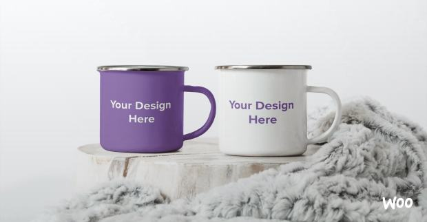 "mugs with ""your design here"" text"