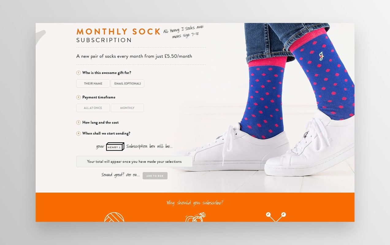 sock subscription from Henry J Socks