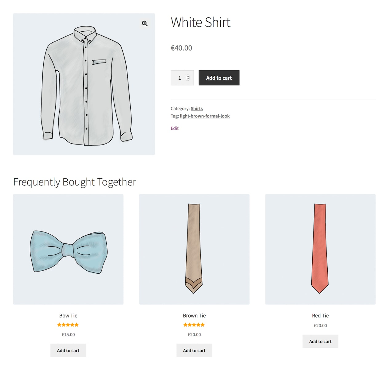 illustration of product recommendations on a product page