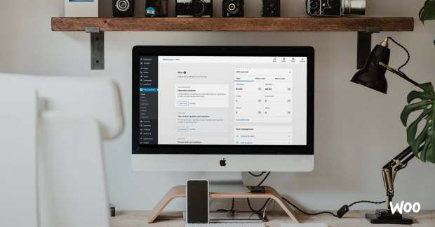 home screen on a desktop in an office