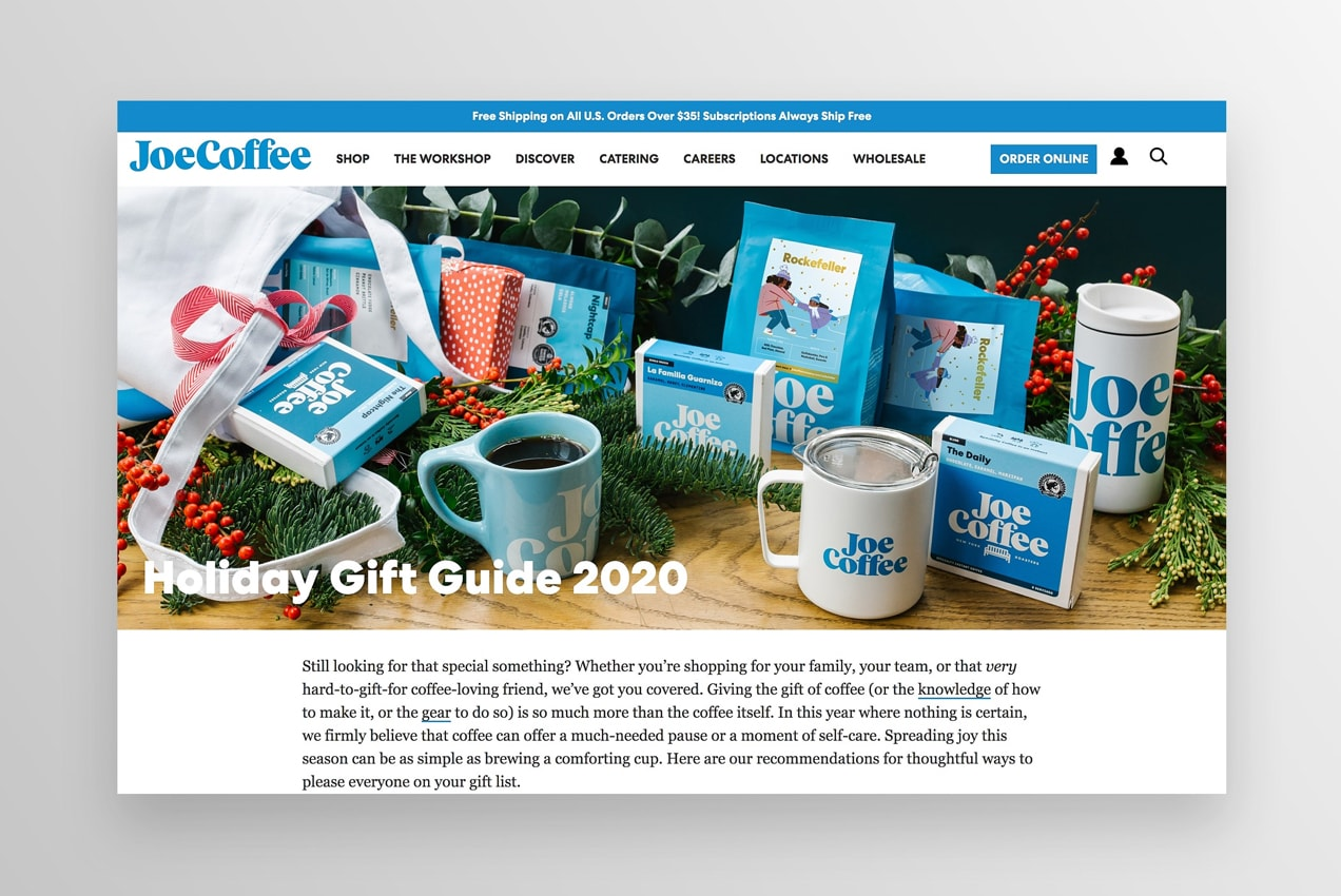 JoeCoffee holiday gift guide