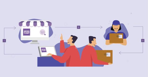illustration of the dropshipping process