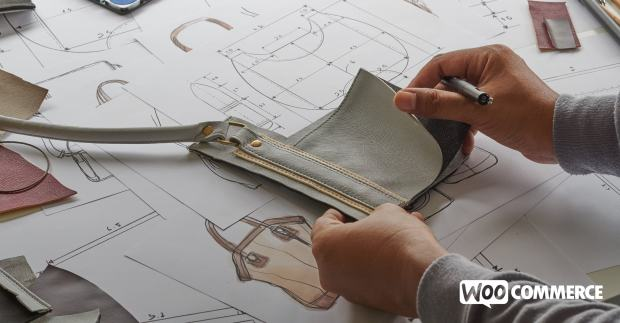 entrepreneur working new product designs