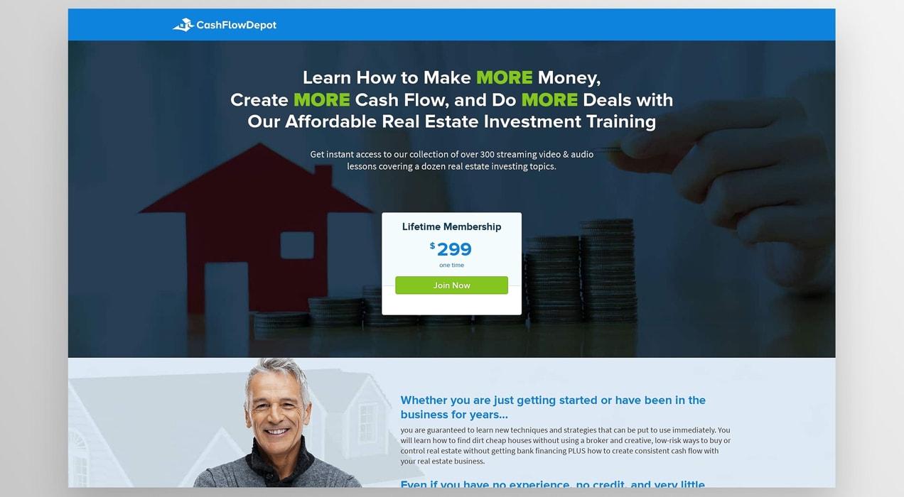 CashFlowDepot membership page