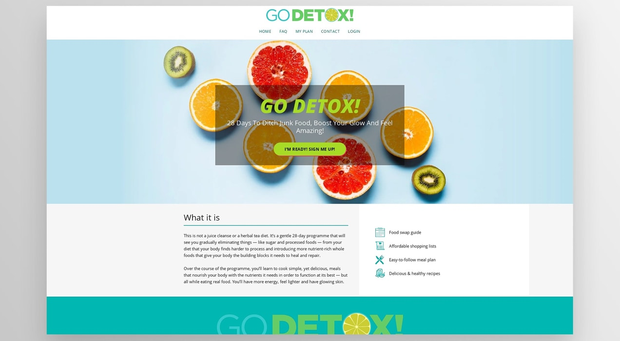 Go Detox membership website