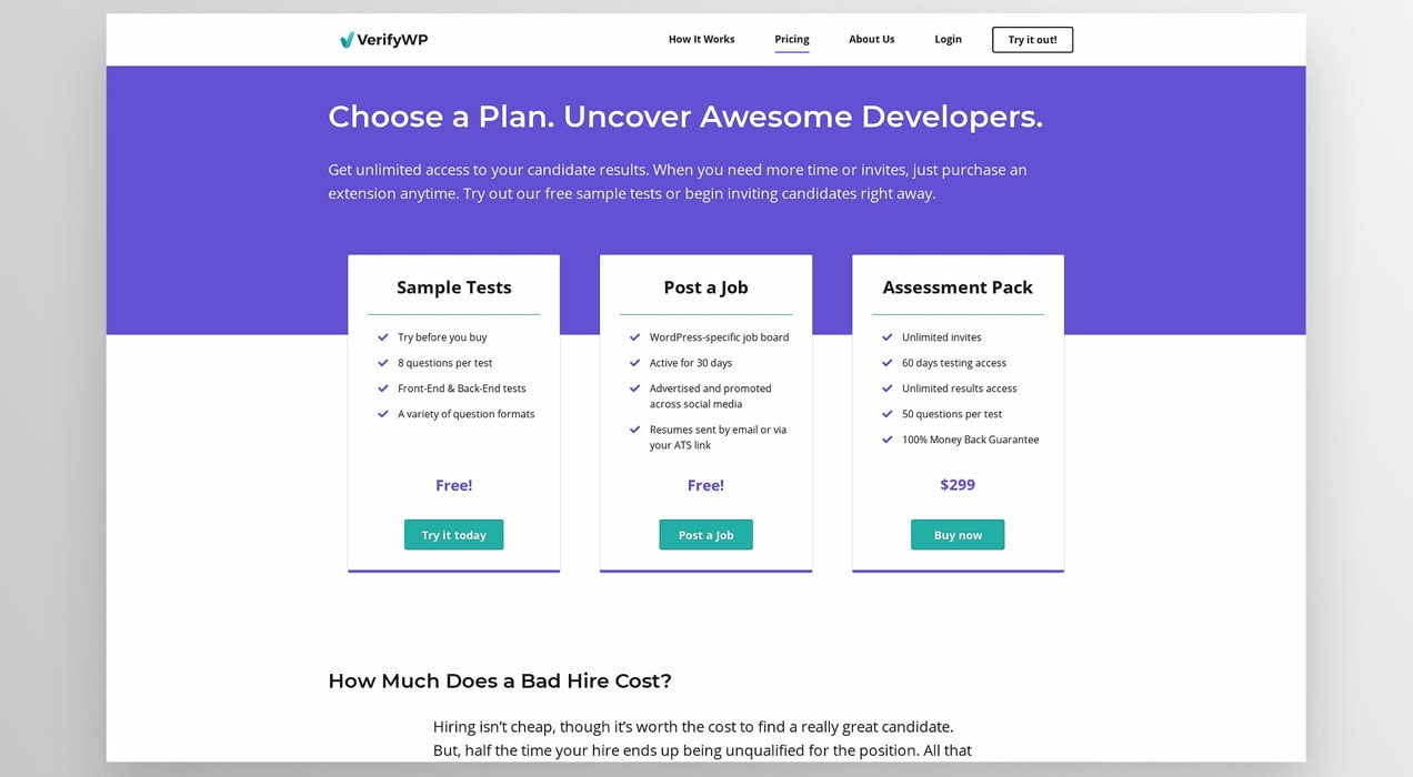 VerifyWP membership plans