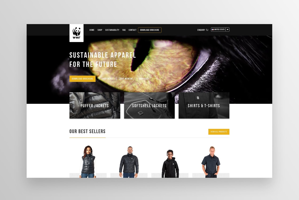 World Wildlife Fund shop with product listings