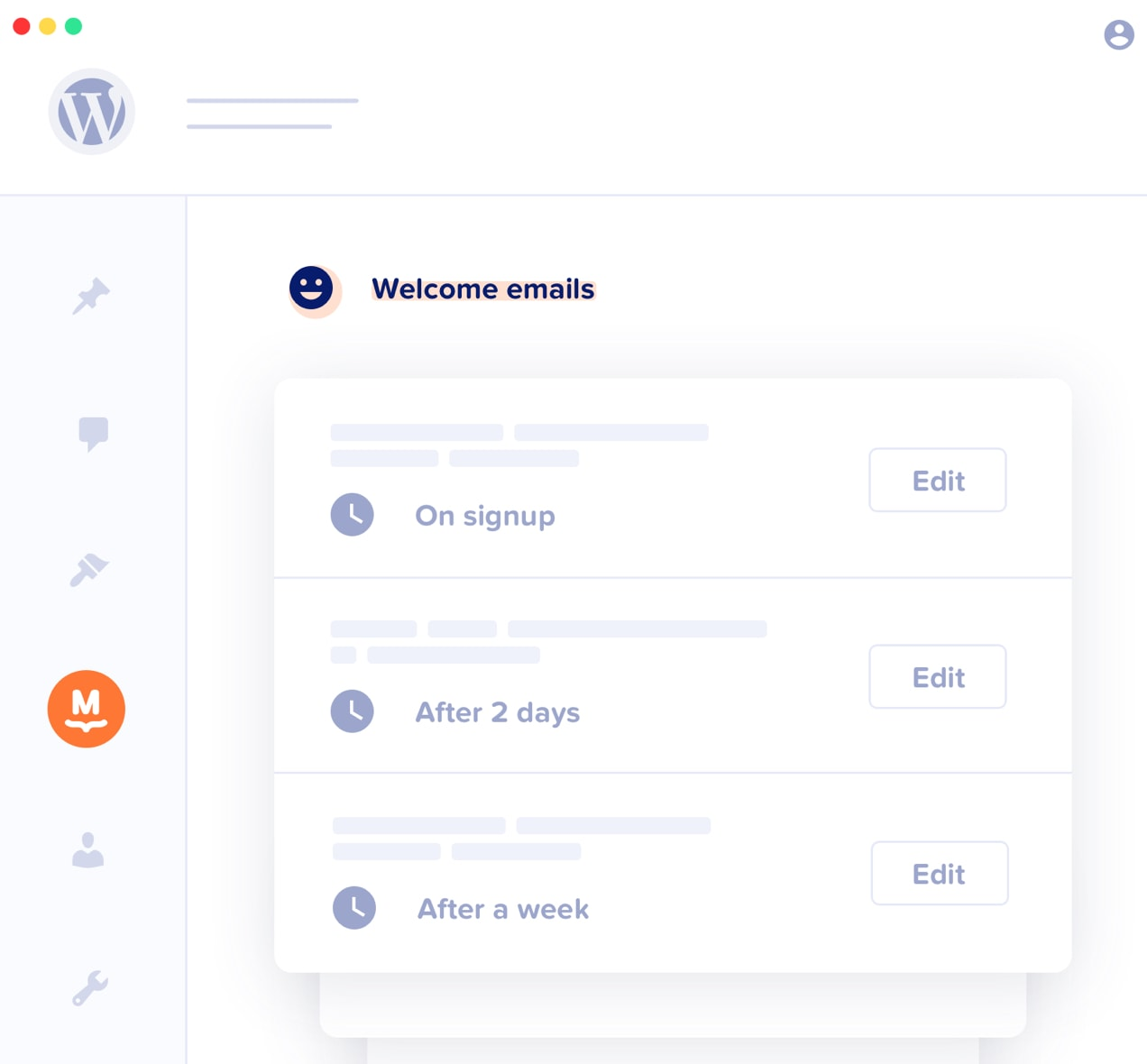 welcome email series in MailPoet