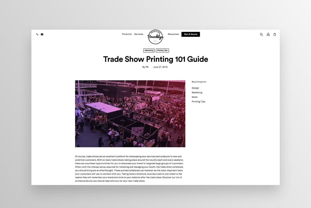 trade show printing guide blog post