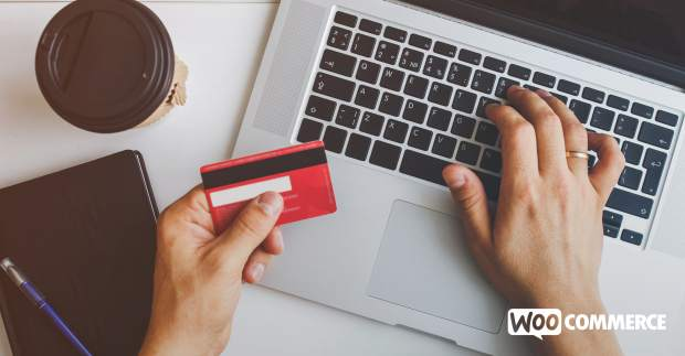 shopper buying online with a credit card