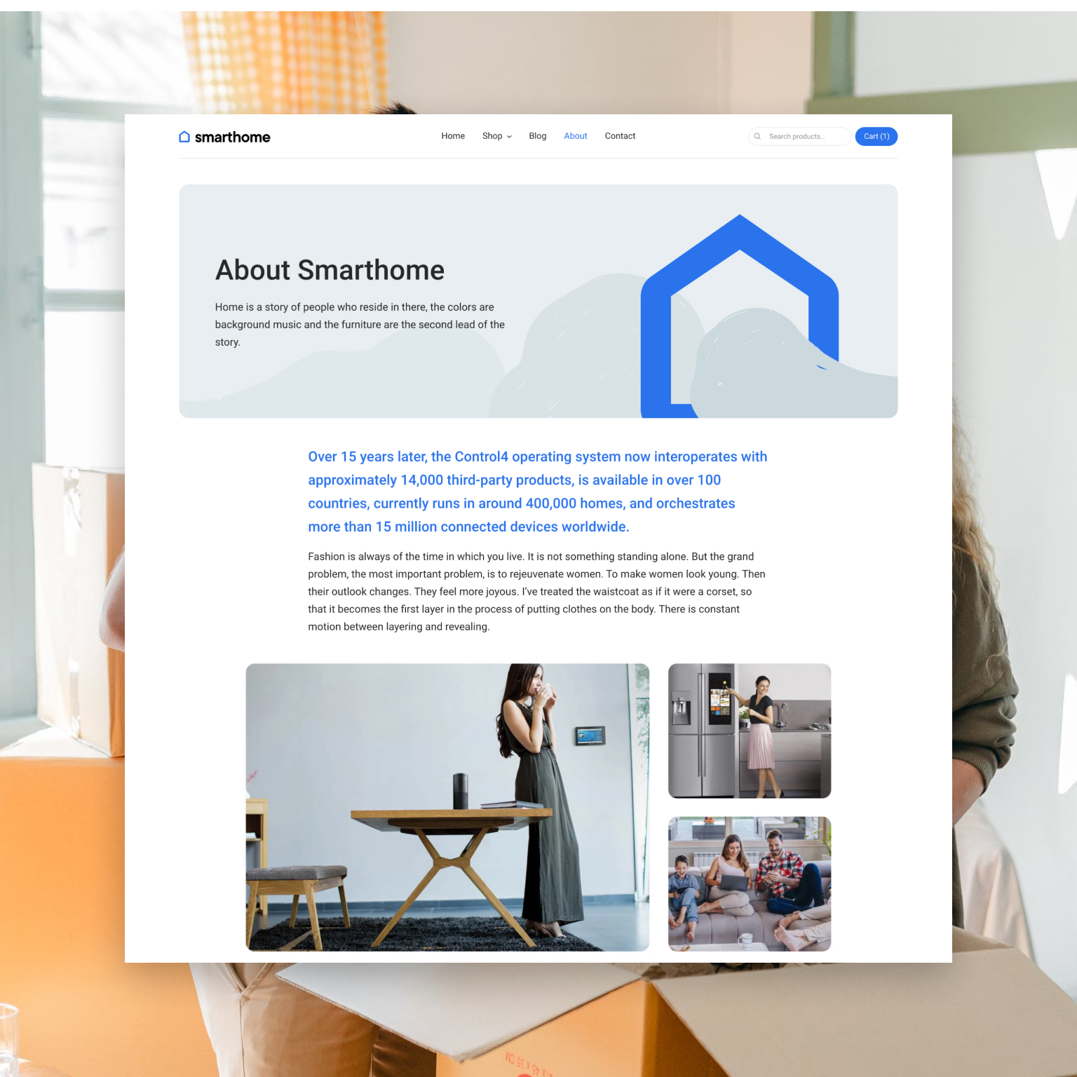 Smart Home About Page
