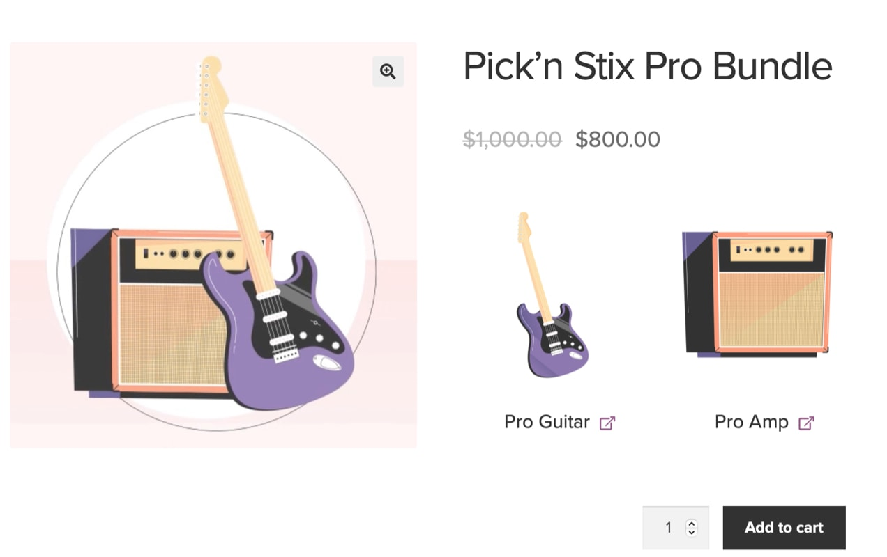 product bundle with guitar and amp
