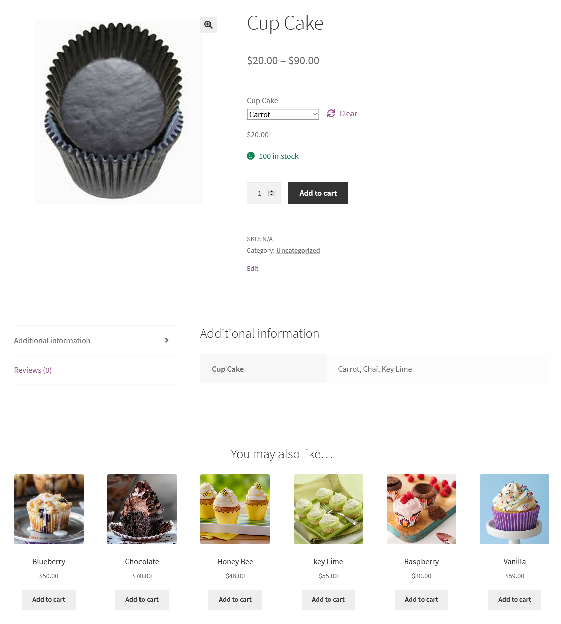 up-sells frontend view