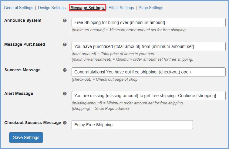 WooCommerce free shipping bar