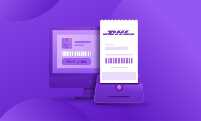 DHL shipping label illustration