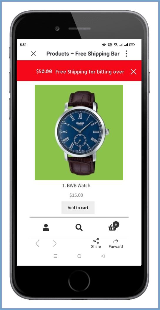 WooCommerce shipping bar