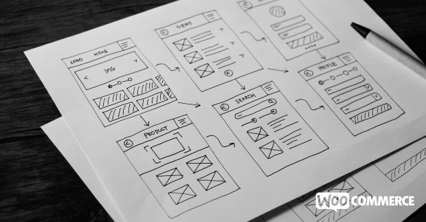 website wireframe with elements like sliders