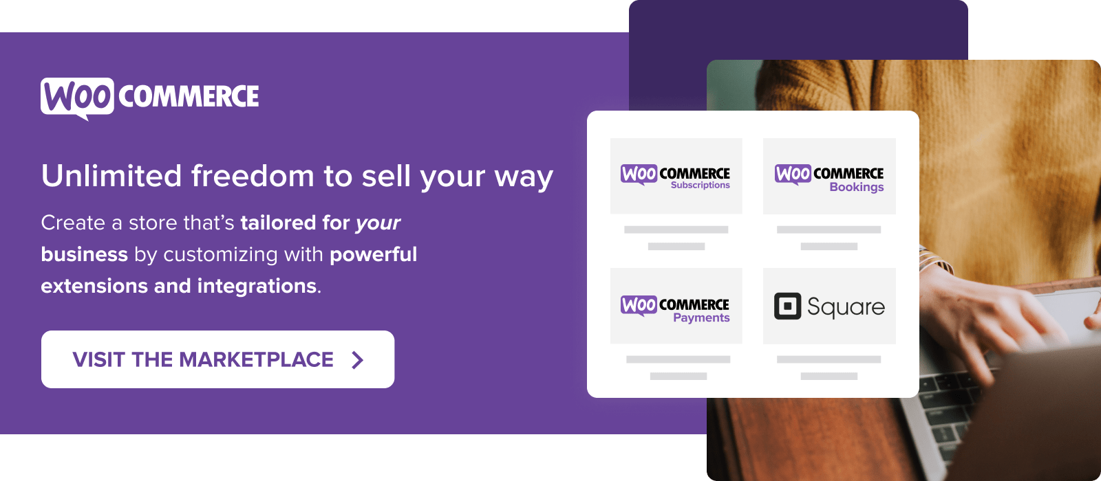 Visit the extensions marketplace to customize your store