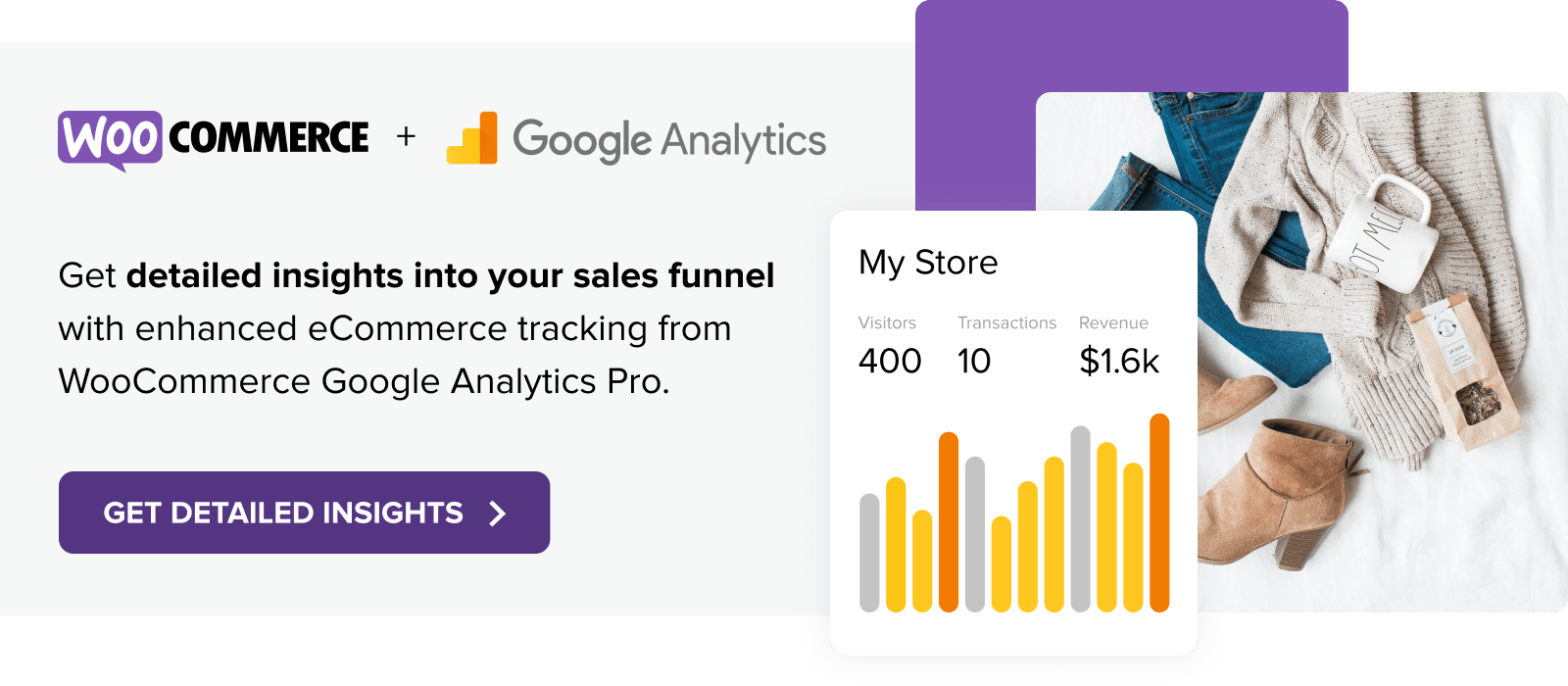 Get detailed insights into you sales funnel with Google Analytics Pro