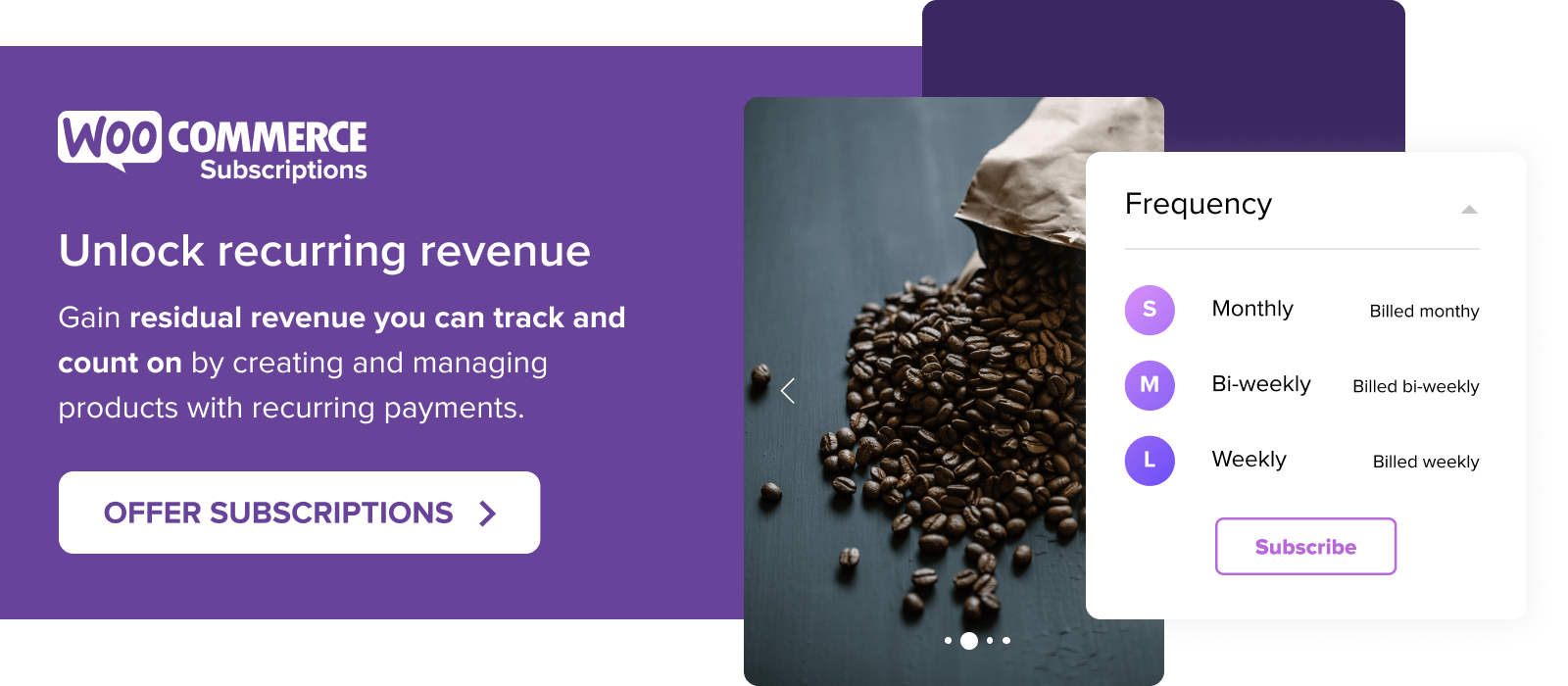 Unlock recurring revenue with WooCommerce Subscriptions