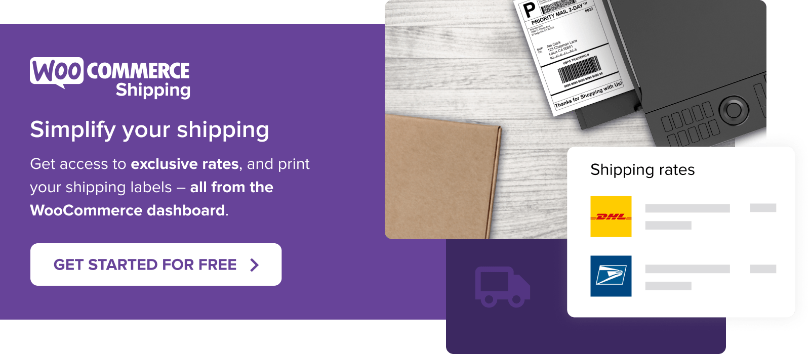 Simplify your shipping with WooCommerce Shipping
