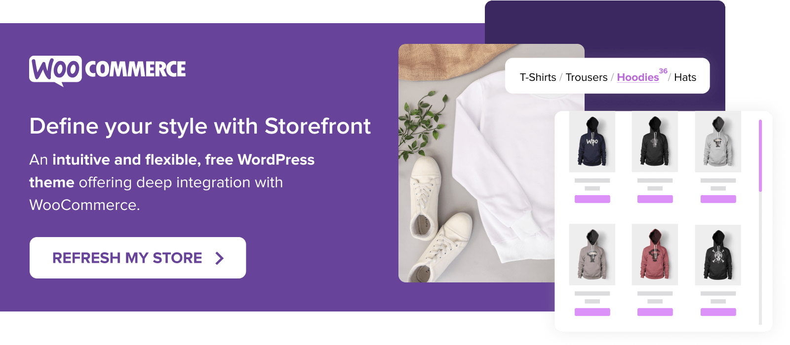 Refresh your store with Storefront - a theme built by WooCommerce for WooCommerce