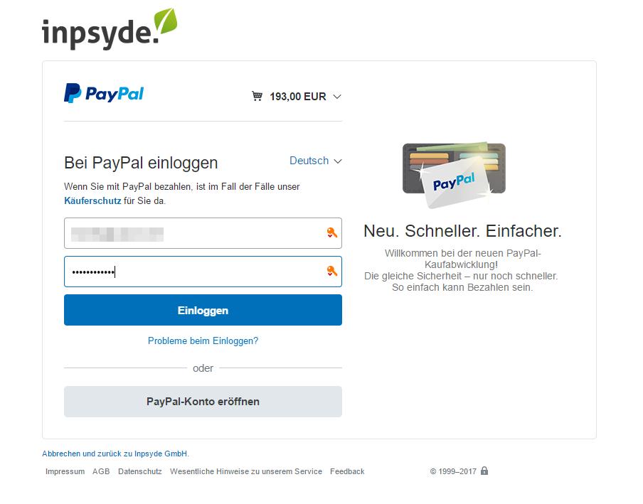 Paypal Einloggen Deutsch