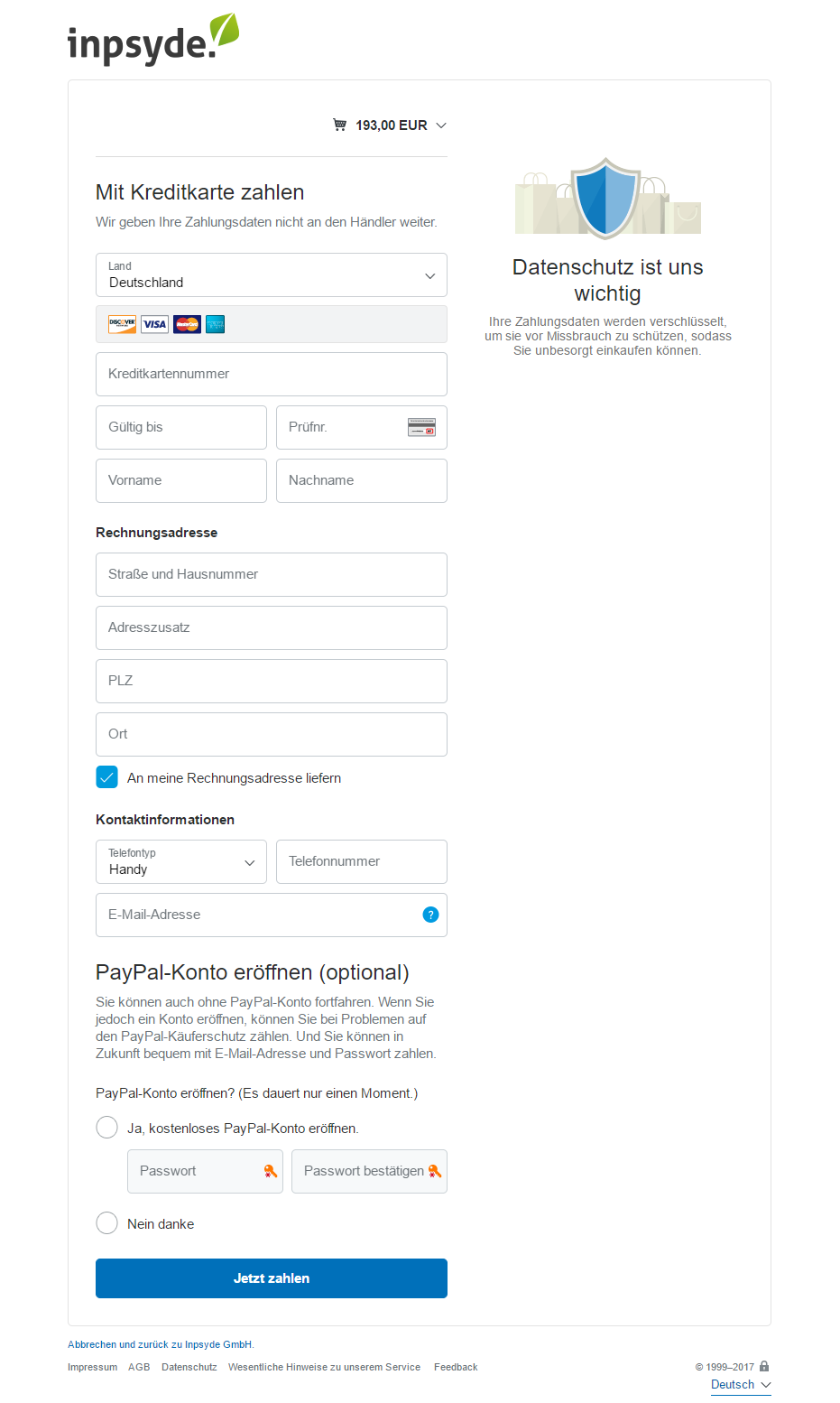 PayPal PLUS for Germany - WooCommerce